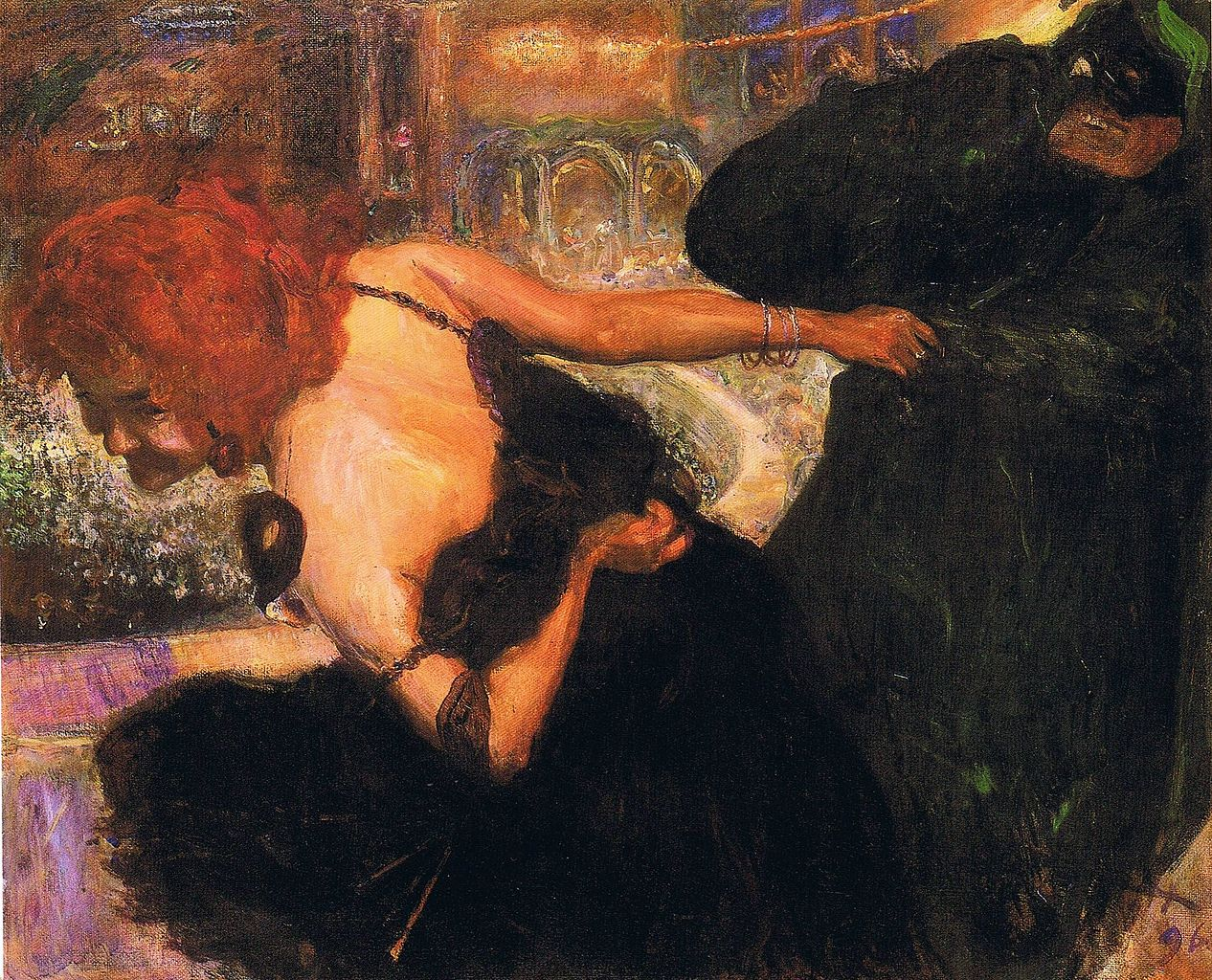Death Dance, 1896,Max Slevogt (1868–1932) oil on canvas,Museum Georg Schäfer,in Schweinfurt, Bavaria, Germany