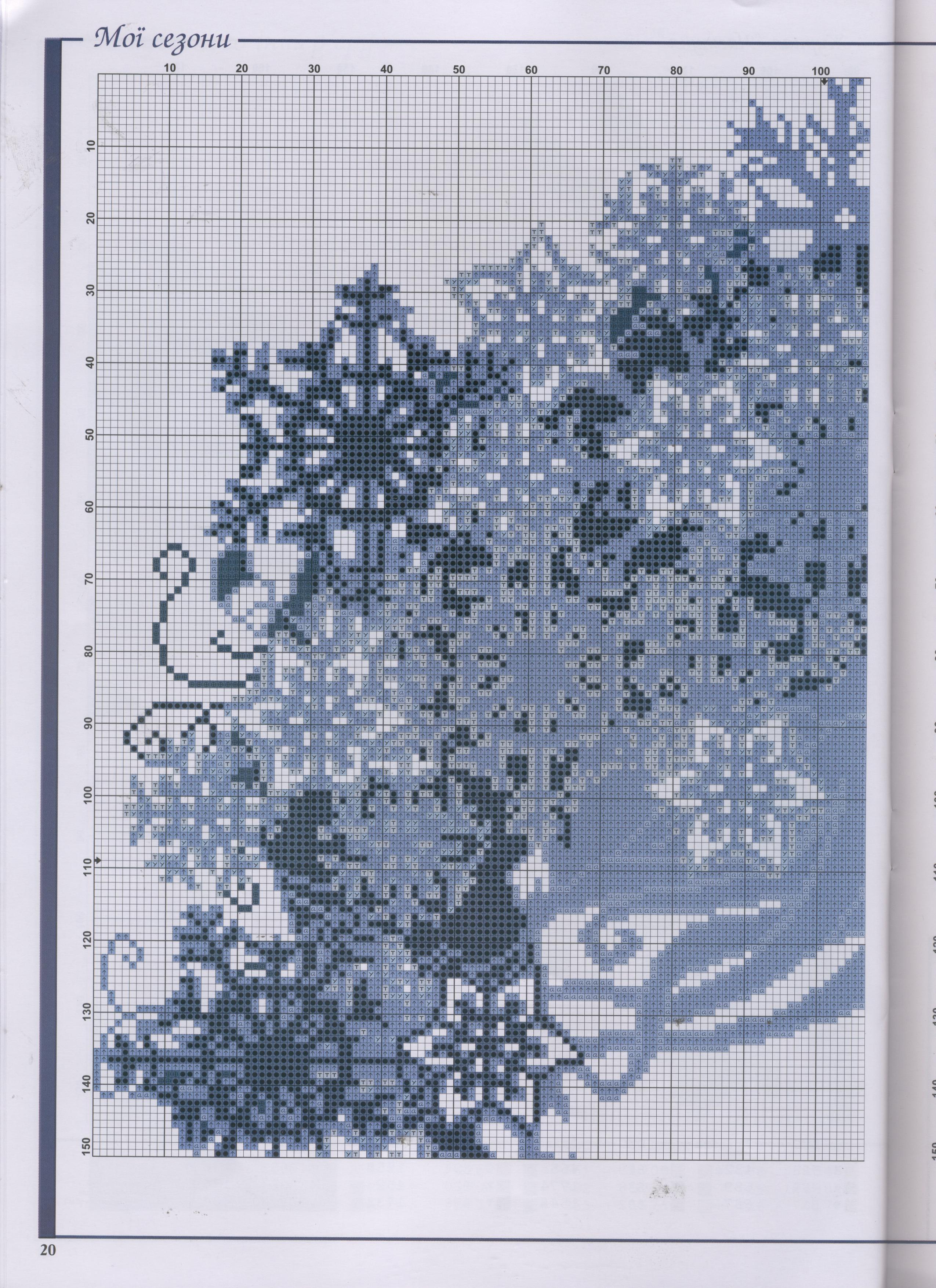 Схемы вышивок крестом сезоны