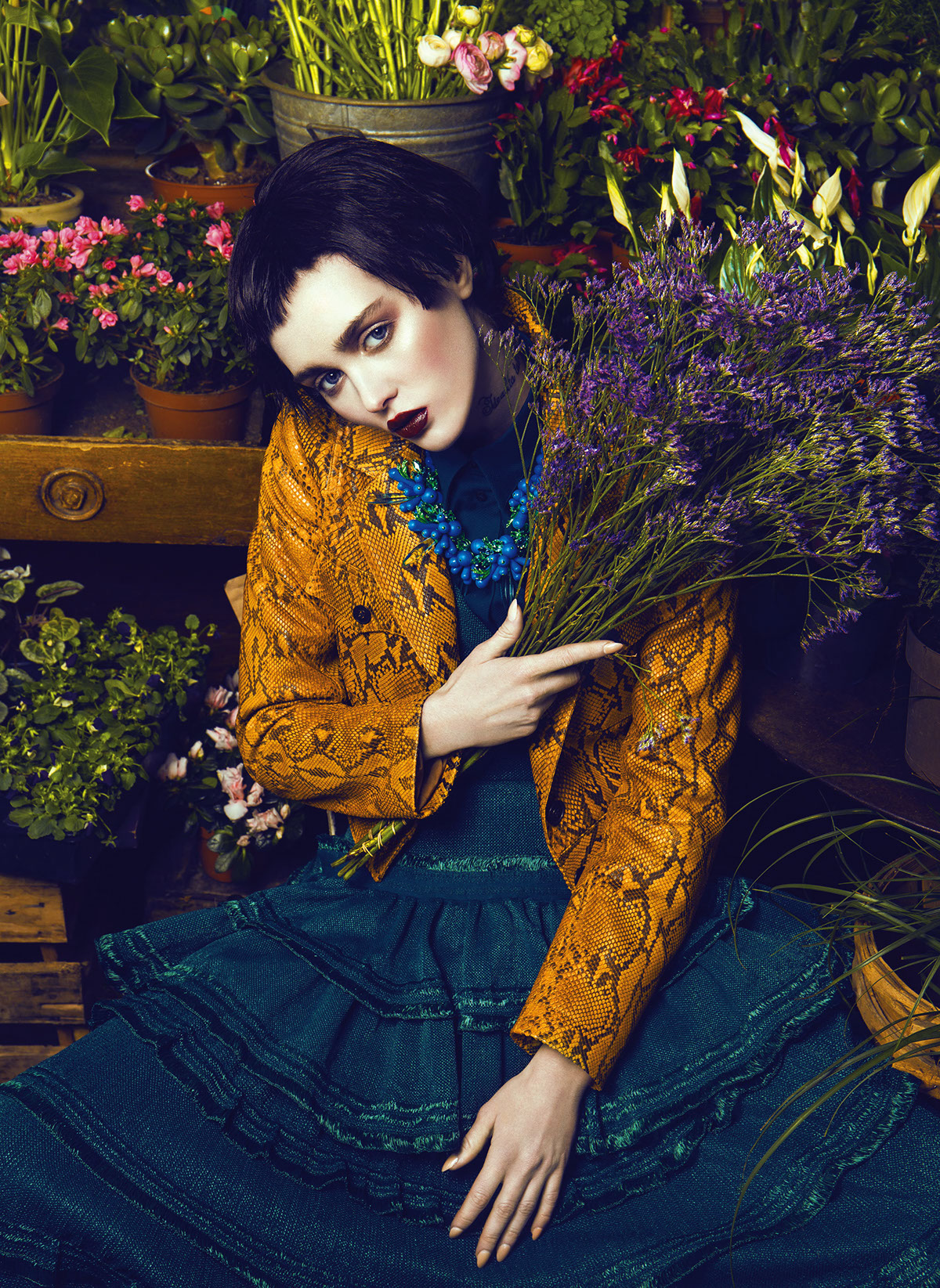 Les bouquets d'Aster for The Claw Fashionbook / фотограф Quentin Legallo
