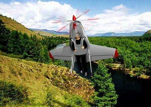 Прототип советского ранцевого самолёта