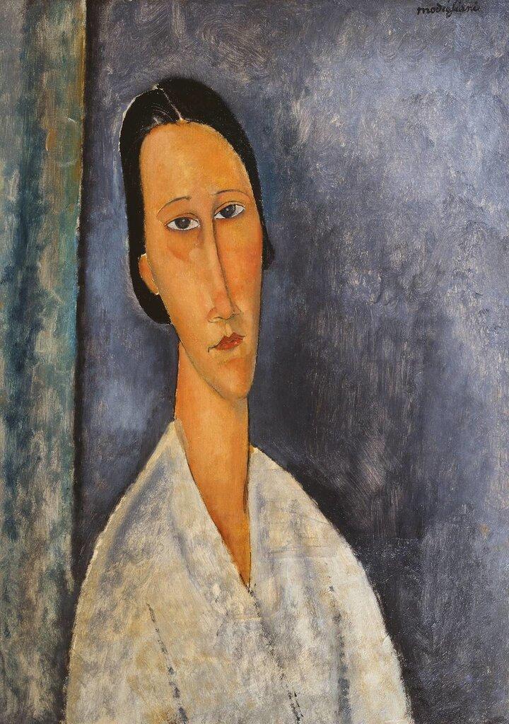 Madame Zborowska 1918 by Amedeo Modigliani 1884-1920