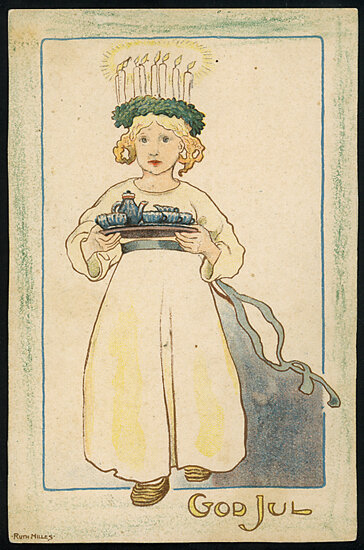 By Ruth Milles, Appendix to the magazine Vintersol, 1908