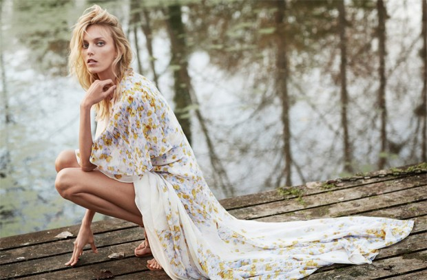 Аня Рубик (Anja Rubik) в журнале The Edit by Net-A-Porter