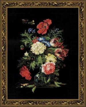 Книга Схемы вышивки крестиком-Цветы