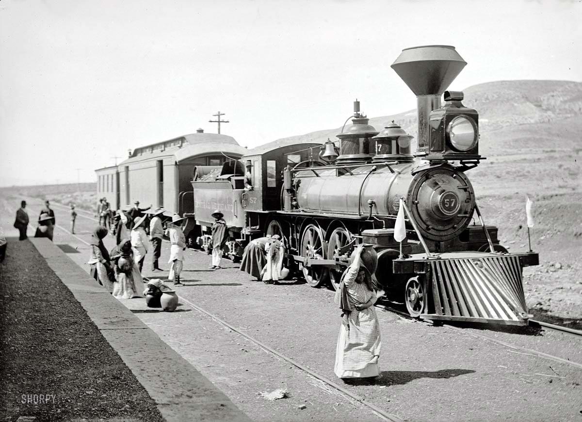 Железные дороги конца 19-го - начала 20-го века на снимках американских фотографов (11)