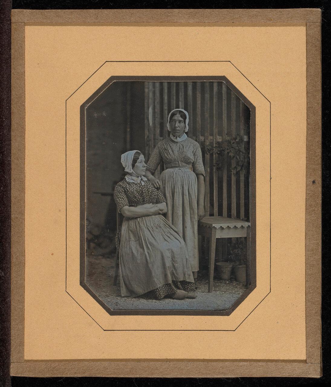 1849. Портрет двух служанок: Лизетт Жильяр и Сасетт. Швейцария.