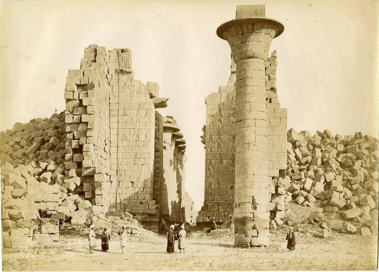 Карнакский храм Амона-Ра. Первый двор