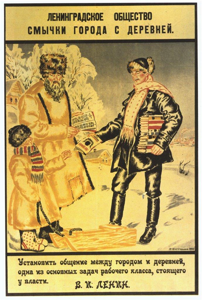 Poster by Boris Kustodiev, 1925.jpg