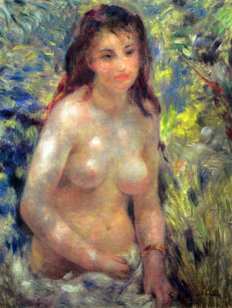 Обнажённая в солнечном свете 1876г 64х80см Musée d'Orsay, Paris, France