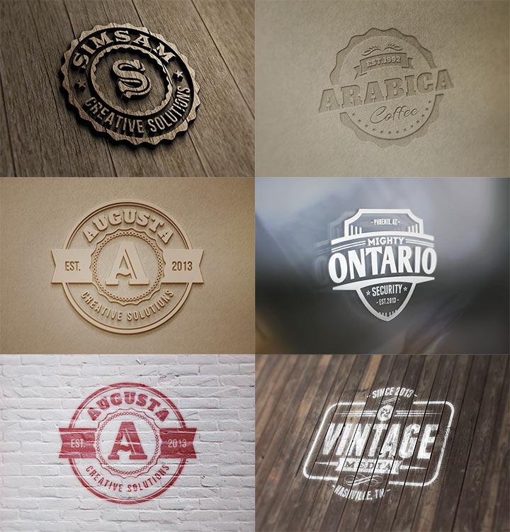 фотореалистичные логотипы