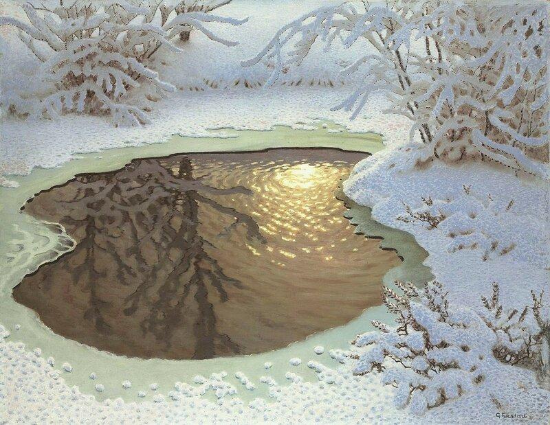 Gustaf Fjaestad. Зимний пейзаж (2).jpg