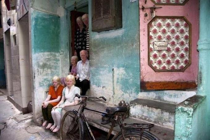 Индийская семья альбиносов и разноцветная семья в Бразилии