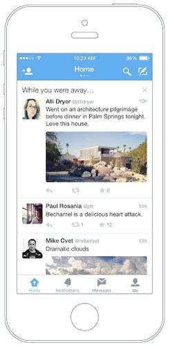 Twitter запустил функцию «Пока ты отсутствовал» для пользователей iOS-устройств
