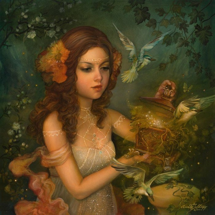 Художница Энни Стегг (Annie Stegg). Волшебные сказки на тоненьких нитках