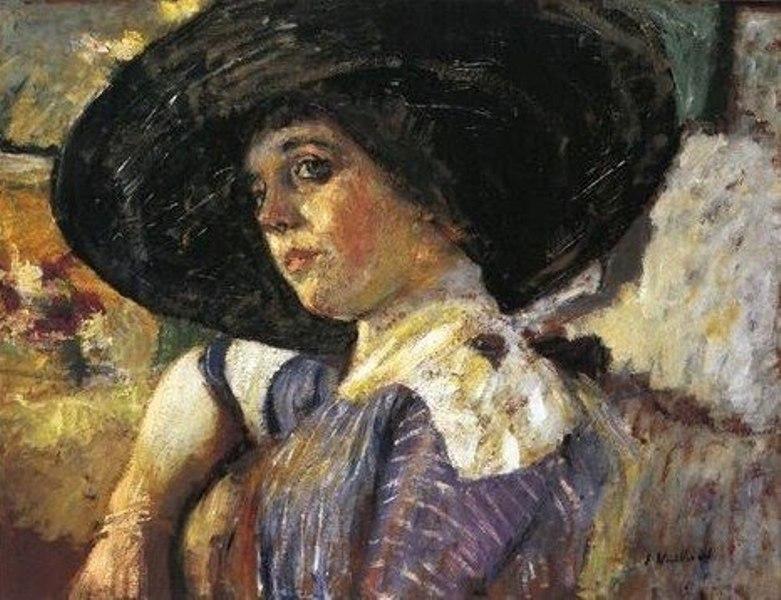 9 Jean Édouard Vuillard (1868-1940) Woman with Hat.jpg