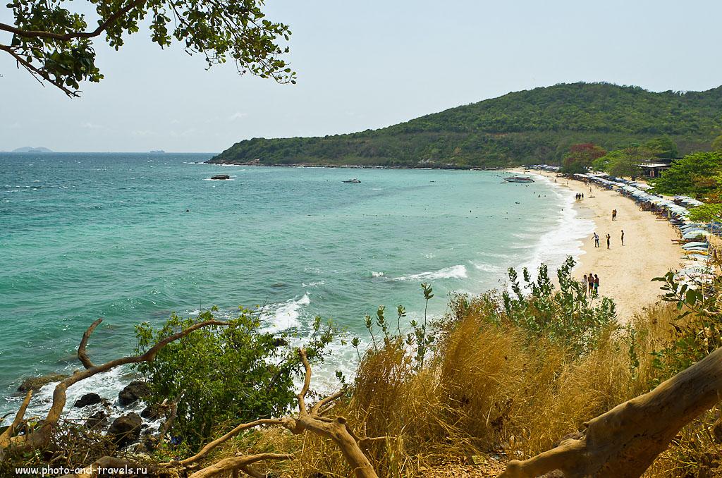 9. Вид на пляж Манки Бич (Monkey Beach) на острове Ко Лан, что рядом с курортом Паттайя. Отзывы об отдыхе в Таиланде самостоятельно.