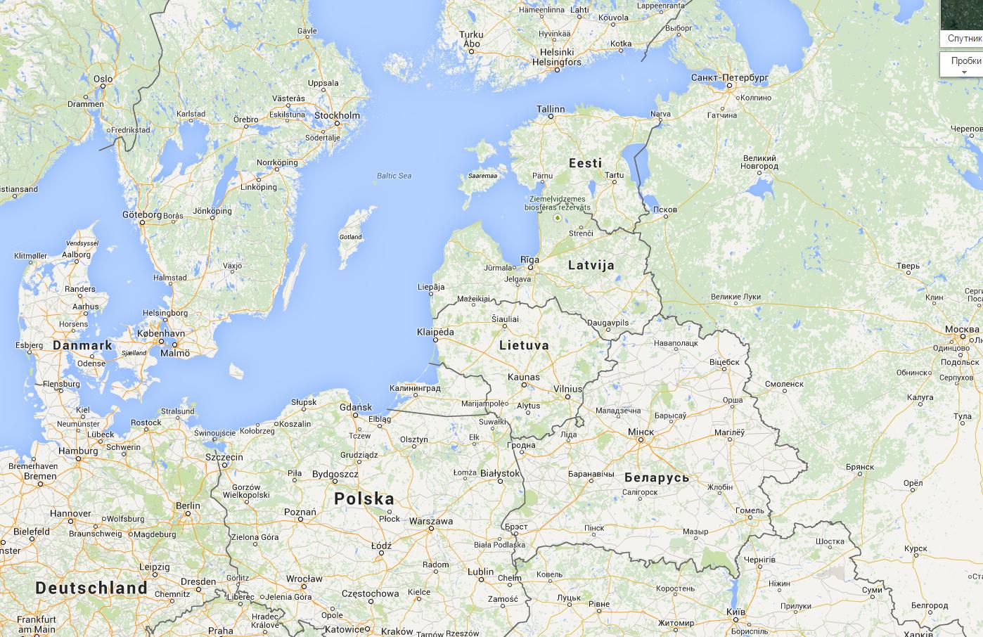 Паром из Финляндии в Германию