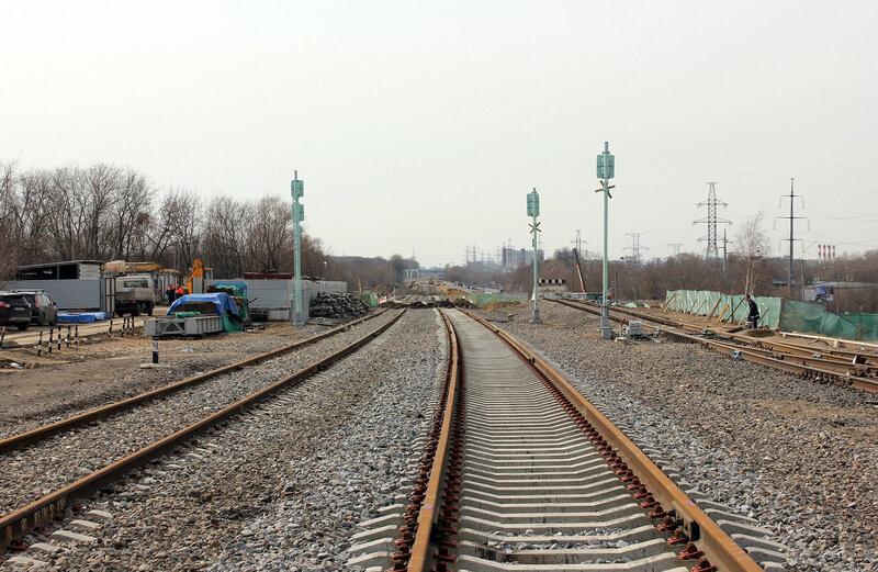 Бывшие чётные входные по станции Ростокно, вид на Владыкино