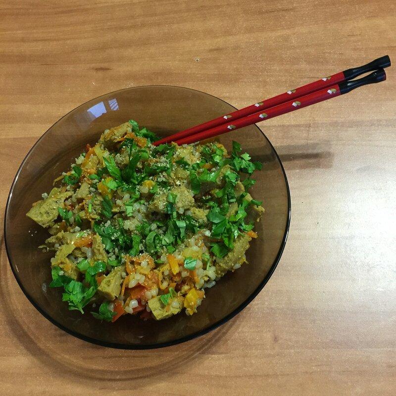 Рис Ширатаки с соевым мясом