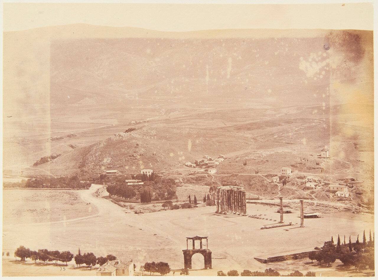 1877. Арка Адриана с горы Имитос