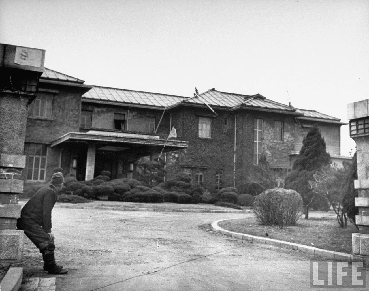 Отель, где советские техники жили во время демонтажа завода.