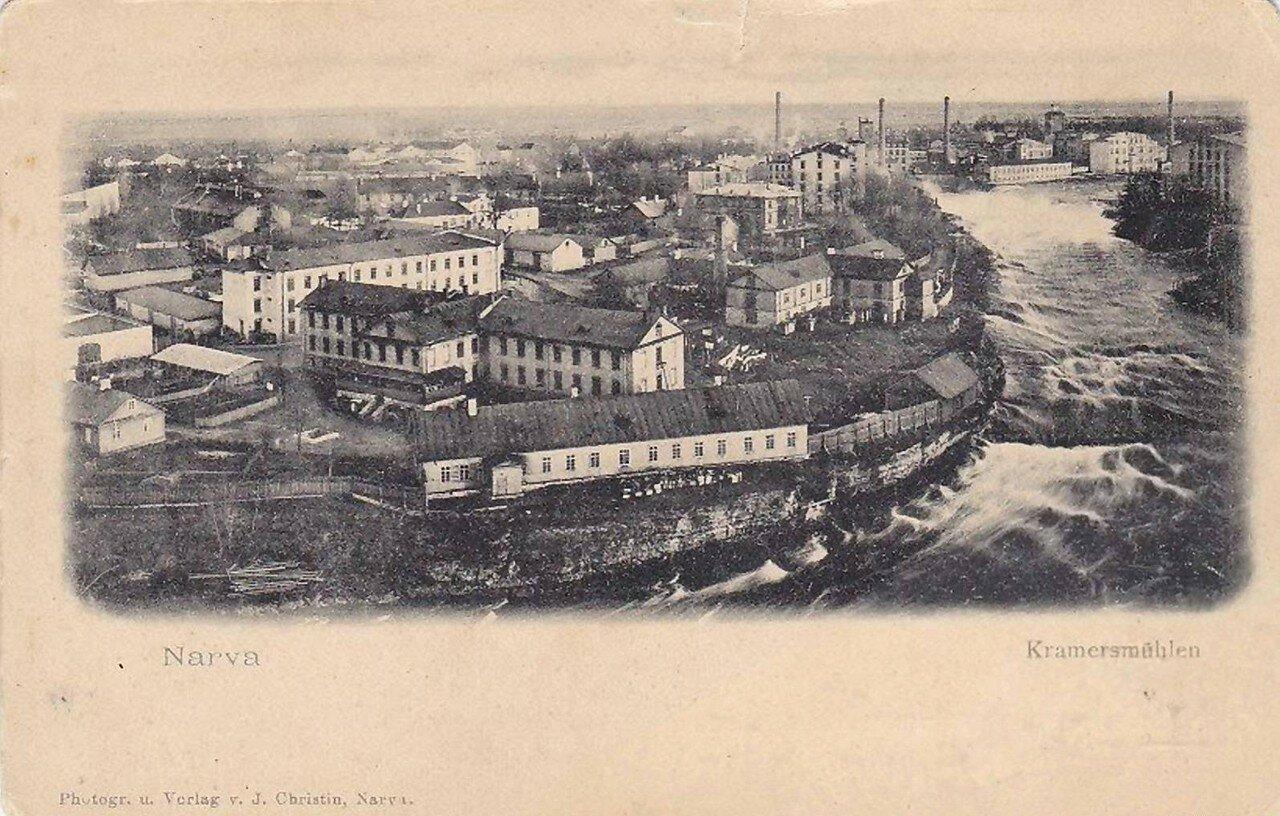 Район Суконной фабрики на правом берегу Наровы