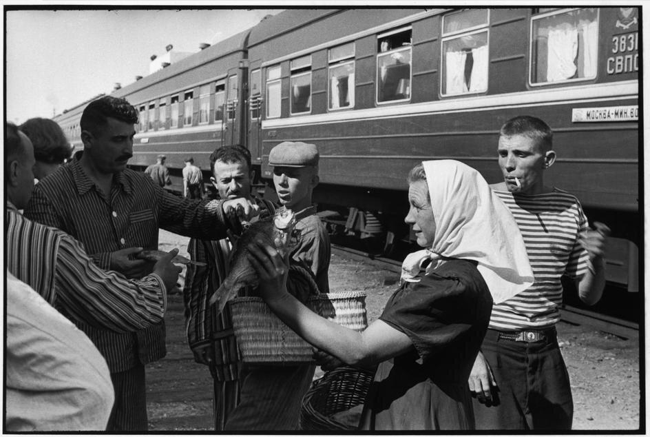 1954. На железнодорожной станции