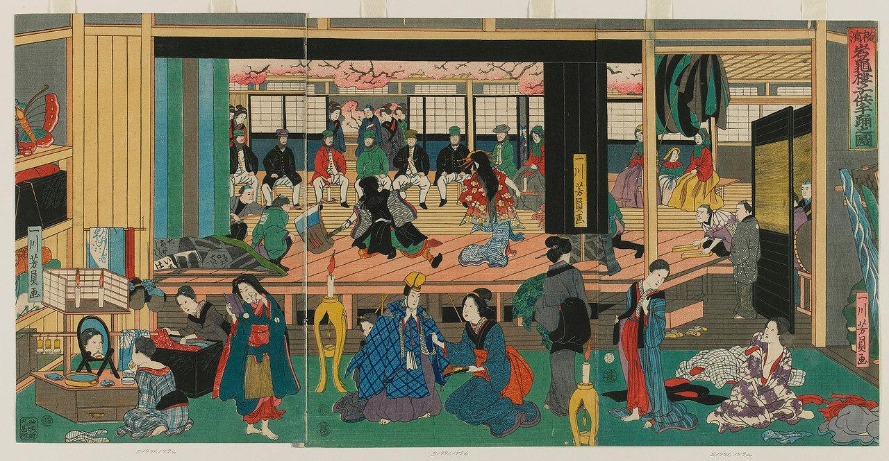1861. Детский танцевальный спектакль на Ганкиро в Йокогаме