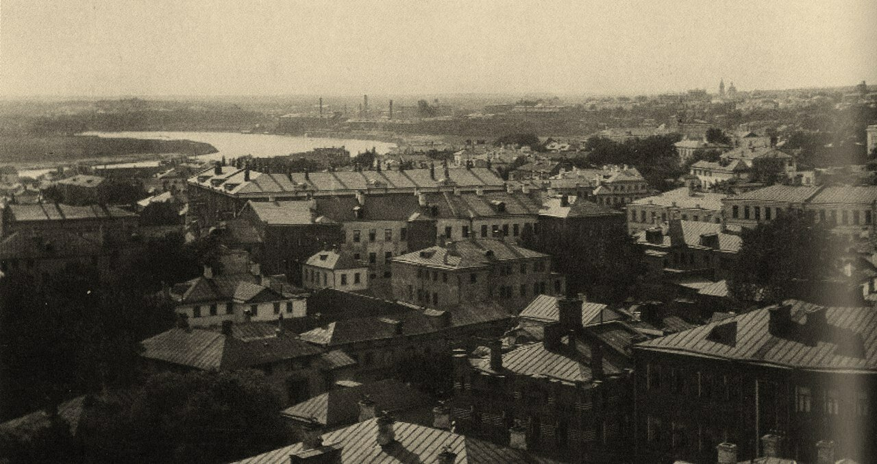 189. Вид от Спасо-Песковской площадки на Трехгорку. 1908-1910