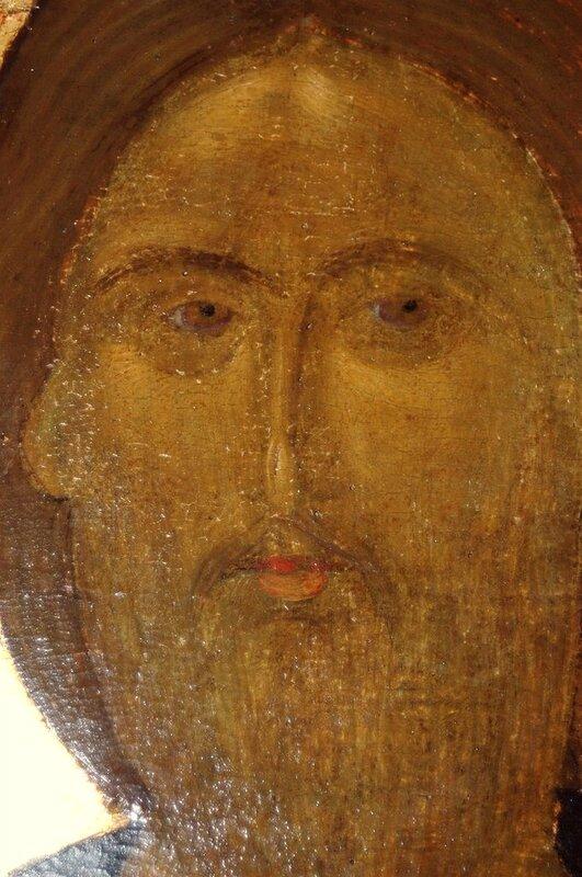 Лик Спасителя. Фрагмент иконы из Хиландарского деисусного чина. 1360-е годы. Монастырь Хиландар на Афоне.