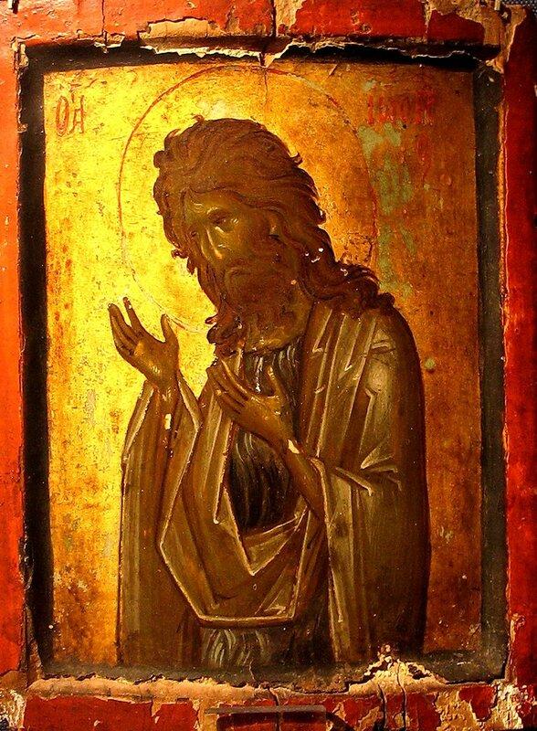 Святой Иоанн Предтеча. Икона. Византия, конец XIV века. Монастырь Святой Екатерины на Синае.