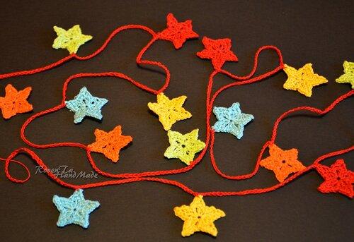 roventa-handmade, безопасные игрушки на елку, безопасные украшения на елку, вязаная гирлянда, гирлянда для малышей, гирлянда на елку