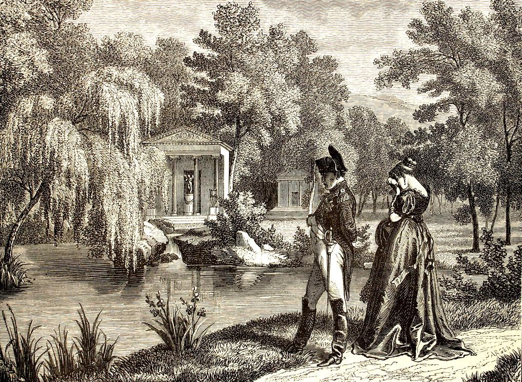 77 Наполеон и королевы Гортензии посещения Malmaison.jpg