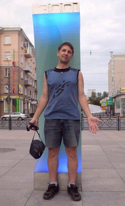 У юбилейного фонаря на улице Валиханова