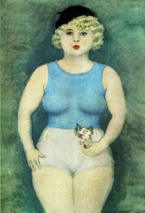 Девушка с букетом, 1933