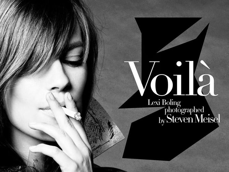 Лекси Болинг стала звездой свежего номера Vogue Italia 2014 (13 фото)