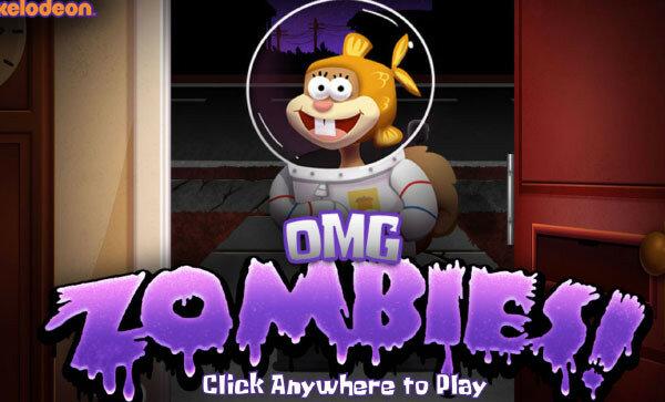 Губка Боб гости Зомби в Хэллоуин (SpongeBob OMG Zombies)