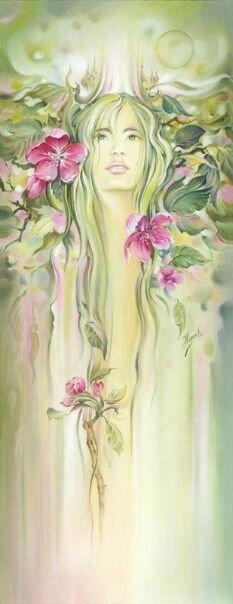 Женщина-Весна... Польская художница Anna Ewa Miarczynska