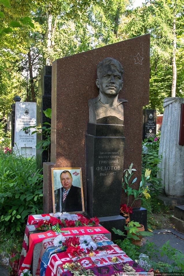 Могила Григория Федотова на Новодевичьем кладбище