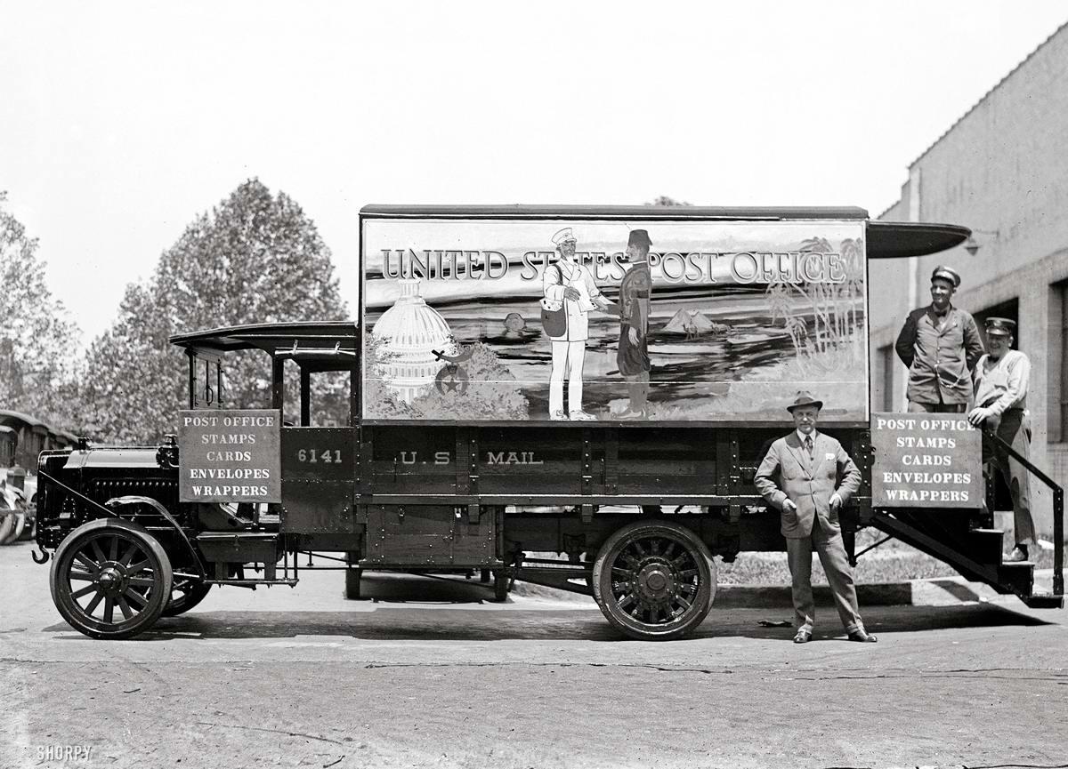 Специализированные транспортные средства начала 20-го века на снимках американских фотографов (43)