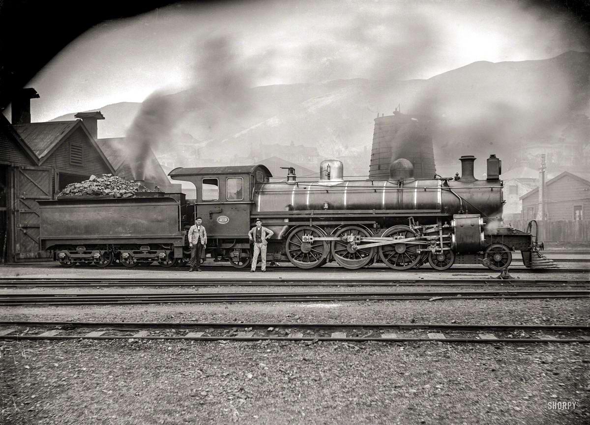 Железные дороги  начала 20-го века на снимках американских фотографов (41)