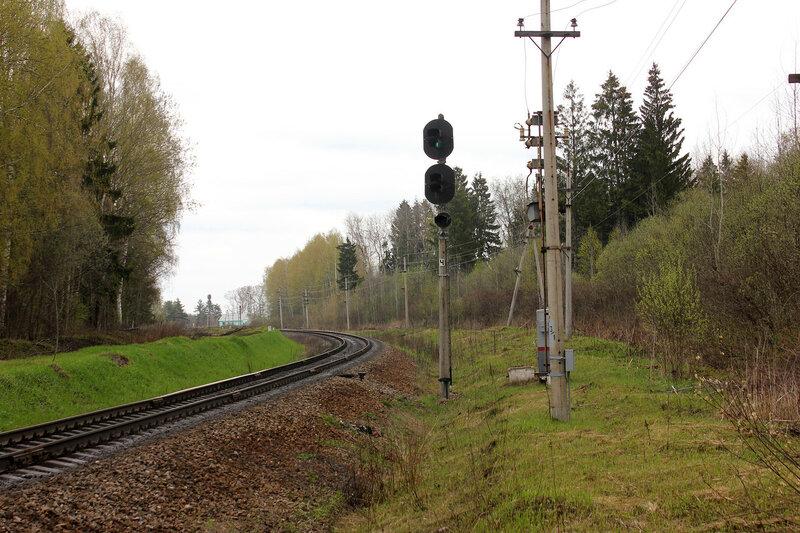 Входной светофор Ч станции Бартенево