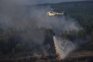 Пожар вблизи ЧАЭС остановлен за 5 км до могильника отходов