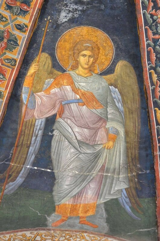 Ангел Господень. Фреска монастыря Хора в Константинополе. 1315 - 1321 годы.