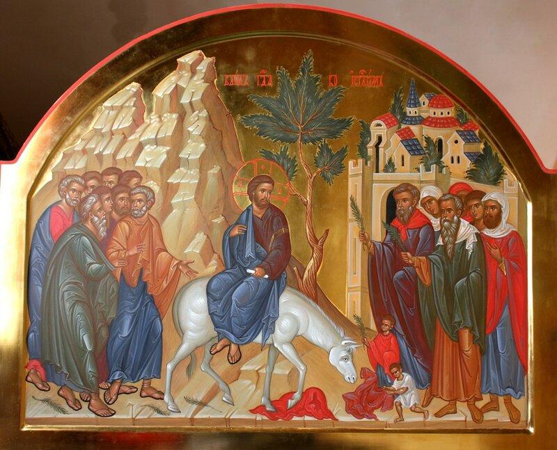 Вход Господень в Иерусалим. Иконописец Наталия Пискунова.