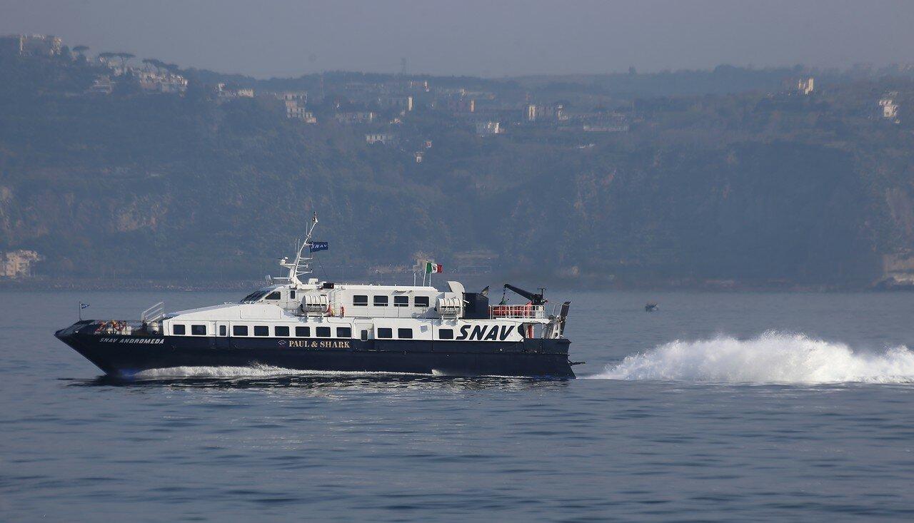 скоростной теплоход (Aliscafo,  судно на подводных крыльях)