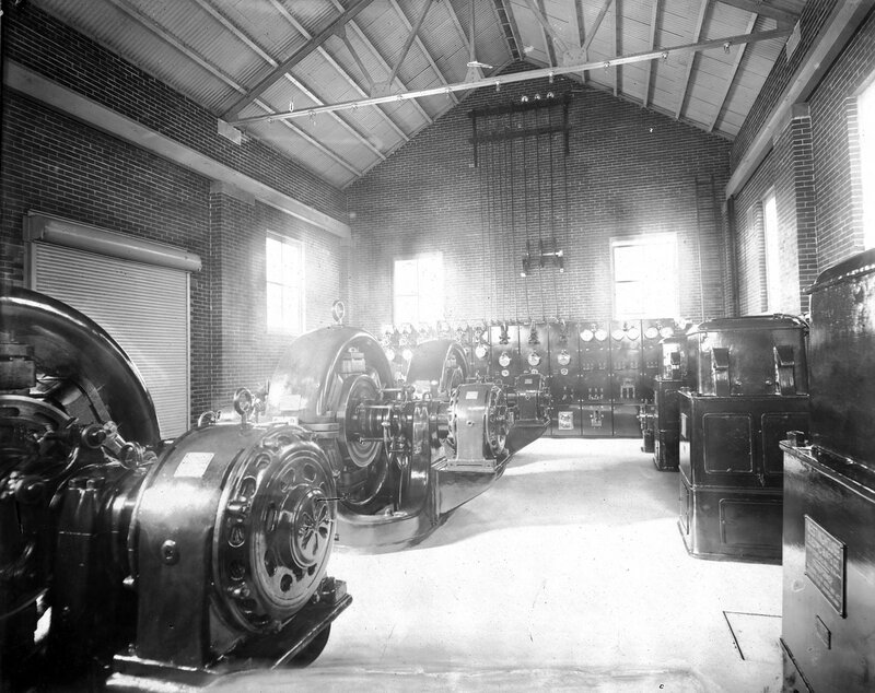 Denver Tramway Company power station in Denver, Colorado, between 1900 and 1905