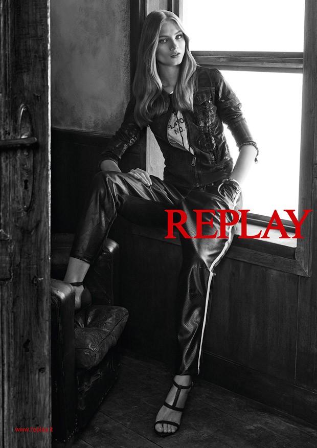 Анна Селезнева (Anna Selezneva) в рекламной фотосессии для Replay (8 фото)