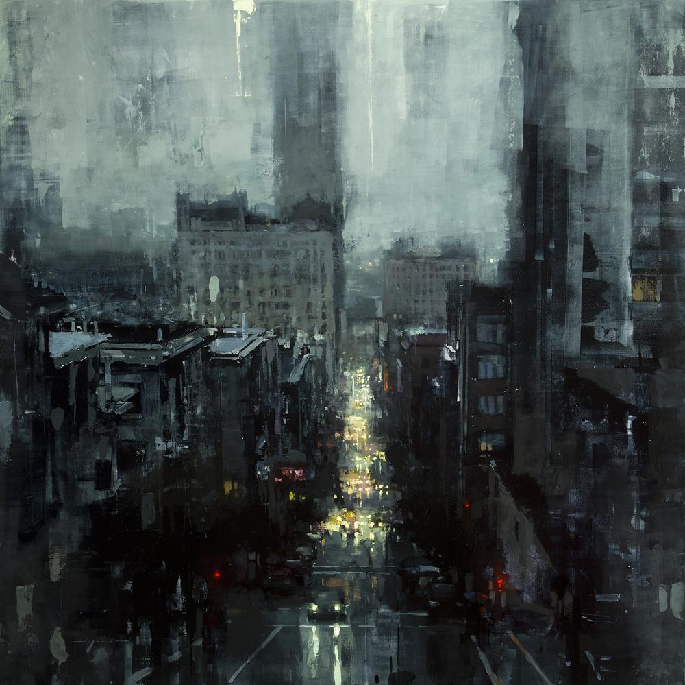 Нью-Йорк и Сан-Франциско на картинах Джереми Манна