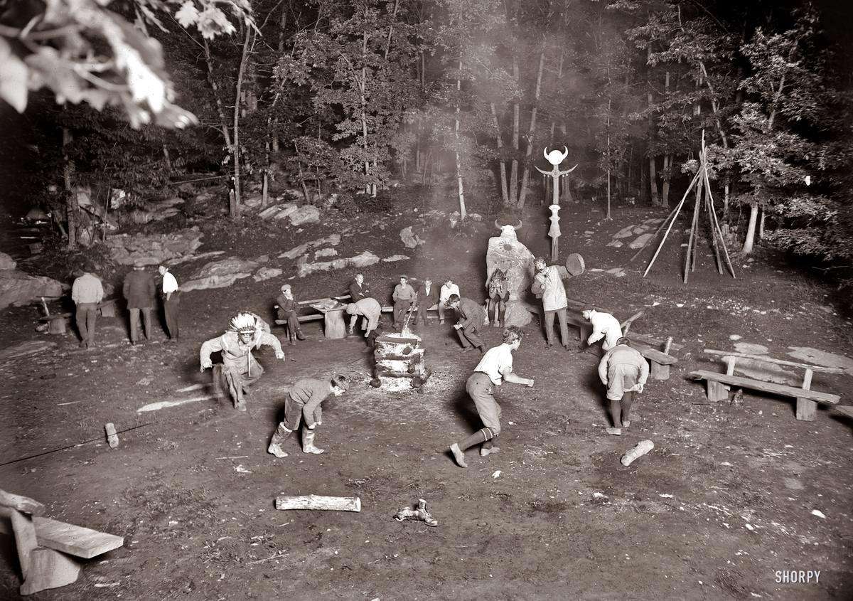 Американские бойскауты начала 20-го века на снимках фотографов (2)